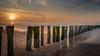 Sunset at the Beach (SM_WZ) Tags: niederlande sonnenuntergang sunset autumn buhne ebb ebbtide ebbe fallingtide groin groyne herbst longexposure lowtide meer netherlands ocean sand sea strand tide zeeland