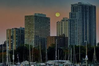 Moon Set At Sunrise