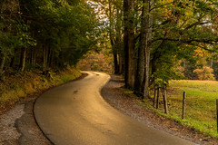 Fall in the Smokey Mountains (Kathy~) Tags: greatsmokeymountains smokeymountains usnationalpark nationalpark fall autu autumn road sunset friendlychallenges 15challengeswinner instagram