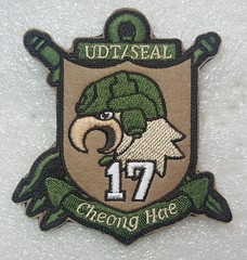 Korea Navy Special Warfare Flotilla (UDT/Seal)(Cheonghae 17th) (Sin_15) Tags: navy korea korean udt seal patch badge insignia military special warfare flotilla combat swimmer diver naval force cheonghae anti piracy unit forces chunghae 청해 underwater demolition team