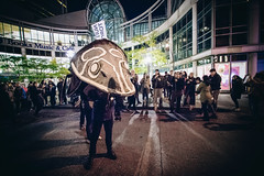 Grandfather Sturgeon (Viv Lynch) Tags: 2017 canada downtown event nuitblanche ontario toronto art culture party serpentpeople firstnations protest activism streetphotography indigenous rights humanrights revolution indigenousrights landrights environment installation history industry industrialization lifeonneebahgeezis