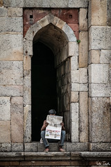 Breaking News (undeklinable) Tags: india indian delhi new old travel trip culture hindi tourism architecture history newspaper reading read news street