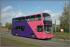UNO 278, Edgar Mobbs Way (Jason 87030) Tags: saints expresslifttower lighthouse northampton northants 19 edgarmobsway wright eclipse gemini 278 uno university route service withdrawn theend pink purple pretty nice color colour decker lf52znx