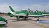 Royal Saudi Air Force - Saudi Hawks display team (Burmarrad (Mark) Camenzuli Thank you for the 10.8) Tags: airline royal saudi air force hawks display team aircraft british aerospace hawk mk65a registration cn