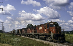 More Than Enough Clouds (ac1756) Tags: greenbaywestern gbw greenbayroute alco c420 323 taylor wisconsin 2