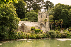 Ancient Church At St. Just (maureen bracewell) Tags: cornwall july stjust church sea summer ancient stjustinroseland stmawes peace quiet tranquility garden uk holywell maureenbracewell cannon architecture nature