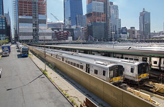 Awaiting The Evening Rush Hour. (Dave McDigital) Tags: highline newyork mta metropolitantransportauthority longislandrailroad lirr hudsonyards bombardier m7 emu