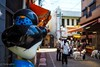 O-Inari-Street (Yorkey&Rin) Tags: 2017 9月 autumn bluesky dogs em5markii foxstatue gifu inari japan lumixg20f17 people rin september shrine town ub250035 お稲荷さん 観光客 岐阜県 犬 参道 秋 千代保稲荷神社