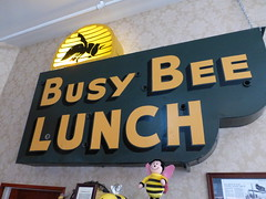 Buffalo, WY Busy Bee Cafe ghost neon sign (army.arch) Tags: buffalo wyoming wy downtown historic historicdistrict historicpreservation nrhp nationalregister nationalregisterofhistoricplaces restaurant busybee cafe ghost neon sign