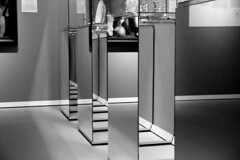 Showcases, Mirrors, Lines…confusion (Konstantin Delbrück) Tags: groningen nl bw tamron canon mirror lines reflection museum art confusion light