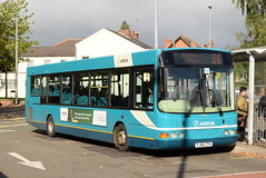 AMN 3723 @ Cannock bus station (ianjpoole) Tags: arriva midlands vdl sb200 wright commander fj06ztk 3723 the cannock chase crusader working route 26 pye green circular