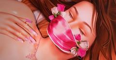 ♚ 420 ♚ (Luxury Dolls) Tags: astralia pink mask event flower rose lelutka maitreya simone bento store luxury dolls tss theseasonsstory new bossie eyebrows applier tableauvivant tableauvivantsl hair color hud necklace medals bubble pl