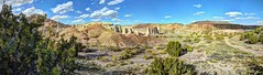 Plaza Blanca at Dar al Islam (JoelDeluxe) Tags: chama river valley abiquiu october 2017 fall colors plaza blanca daralislam hdr panorama landscape nm newmexico joeldeluxe