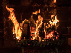 284-2017-365 Welcome Log Fire (Explored) (graber.shirley) Tags: isleofwight