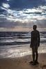 Antony Gormley Statue, Crosby Beach, Liverpool (Geraldine Curtis) Tags: antonygormley statue crosbybeach liverpool anotherplace merseyside beach sand sea sky