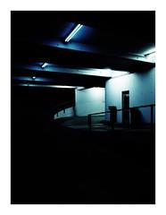 urbanspots (seba0815) Tags: ricohgrdiv ricohgriv grd bleachbypass parking building city night dark neonlights urban streetphotography architecture color mood seba0815 abstract