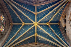 Moons and Stars (Rich Walker75) Tags: exeter cathedral devon architecture historic history colourful pattern stars moons bosses old buildings building gold blue canon eos100d efs1585mmisusm eos england greatbritain photography