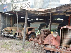 Some Bargains Still Available (mikecogh) Tags: tailembend oldtailemtown heritage museum pioneervillage usedcars irony shed wrecks sign vanguard