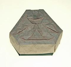 Trapezoid twist tessellation compact version (mganans) Tags: origami tessellation box