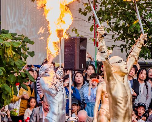 大須大道町人祭 - 大駱駝艦 金粉ショー