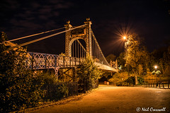 Queens Park Bridge, Chester. (crezzy1976) Tags: nikon d3300 crezzy1976 photographybyneilcresswell nikkor55300mm outdoors evening bridge cheshire chester riverdee nightphotography