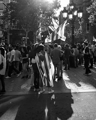 Catalunya (thomasthorstensson.photography) Tags: autumn october composition demonstration streetphotography project illforddelta100 explore catalunya monochrome 2017 communication barcelona social honest fujifilmxt1 life urban local candid human independent document amalgam anatomy bw blackandwhite blend borough candidphotography citified city civil communal community consider fallible frank free mortal probe realism structure town urbanphotography