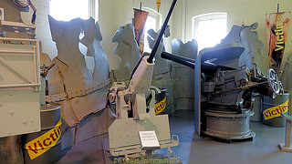 Inside the Explosion Museum, one of the attractions at the Portsmouth Historic Dockyard in September 2017, Gosport, Hampshire, England.
