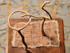 working on 2 of 10 (Danny W. Mansmith) Tags: workinprogress fundraiser burienarts vision2020 dannymansmith sewing mixedmedia sculpture fabric wire trees