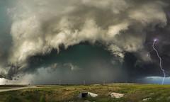 Kansas Thunder panoramic (John Finney) Tags: storm lightning thunder stormchasing shelfcloud danger kansas tornadoalley