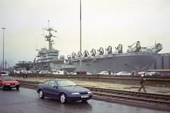 Overlord+50 : USS Guam in So'ton E Docks, 4 June 1994 (Ian D Nolan) Tags: southamptondocks dday 35mm epsonperfectionv750scanner