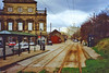 The tramway museum, Crich, Derbyshire, 23rd March 1991 (Linda 2409) Tags: tramlines track