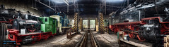 Train shed (hespasoft) Tags: eisenbahnmuseumdieringhausen locomotive steamlocomotive lokomotive eisenbahn technik railway