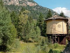 Old water tower R1004234 Durango & Silverton RR (Recliner) Tags: baldwin dsng drg