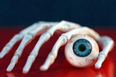 Macro Mondays...Theme Halloween :-) and 7DWF (Sue Armsby) Tags: macromondays halloween hand eyeball blood spooky scary red black horror skeleton fun creepy 7dwf