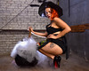 Happy Halloween (mkc609) Tags: paulaspinup rubyhaze portrait pinup elevator witch witchesbrew tattoos kettle apron stilettos
