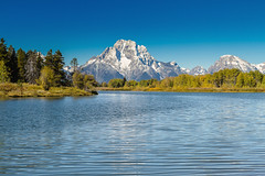 Mt.Moran (popago) Tags: mtmoran tetons mountain blue sky lanscape lake grandtetonnps nps snow forest