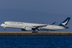 Cathay Pacific Airways Airbus A350-941  B-LRE (pointnshoot) Tags: canonef600mmf4lisusm cathaypacificairways airbusa350 a359 blre millbrae bayfrontpark