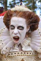 Queen Of The Dead (wyojones) Tags: texas texasrenaissancefestival toddmission texasrenfest renfest renfaire renaissancefaire faire renaissancefestival festival trf halloween scary allhallowseve dead indead zombie queen redhead beautifuldead teeth crown wyojones