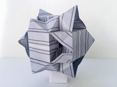 Star (ISO_rigami) Tags: modular origami a4 polyhedron 3d