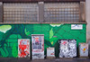 IMGP7341 The nice wall and the ugly tags (Claudio e Lucia Images around the world) Tags: milano murales murale graffiti graffito tag art streetart paintedwall greenwall pentax pentaxk3ii sigmaart rain rainyday