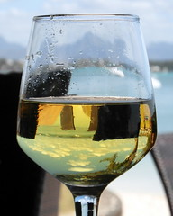 mauritius wine (kexi) Tags: mauritius ilemaurice africa vertical wine whitewine glass reflection relax idyll samsung wb690 translucent september 2016 yellow blue instantfave