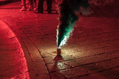 Fireworks_Wedding_Dubrovnik (Christian Cardenal) Tags: wedding fireworks smoke red light redlight night canon eos rebelt1i 500d summer greensmoke street streetphotography urban