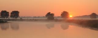 Morgens an der Alten Treeneschleife; Süderhöft, Nordfriesland (125)