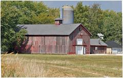 Harvest Time (Sun~Lover) Tags: harvest autumn fall red barn illinois batavia silo redbarn explore 2017