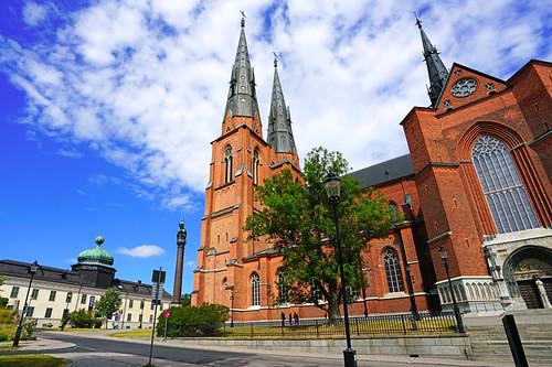 Impressive Uppsala Cathedral building, Sweden