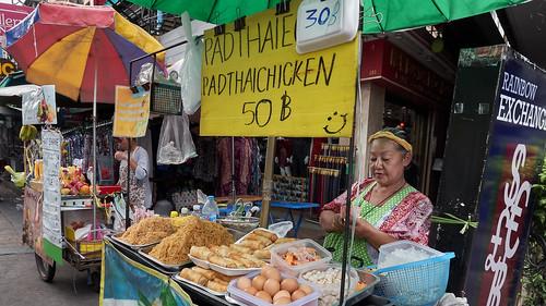 Pad Thai en Bangkok, Tailandia