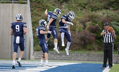 Touchdown Dance (stephencharlesjames) Tags: college sports football middlebury vermont celebration touchdown action ncaa sport people referee