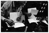 Art Ensemble Of Chicago @ Cafe Oto, London, 17th October 2017 (fabiolug) Tags: scores musicscores paper hands sheets musicsheets artensembleofchicago artensemble roscoemitchell donmoye jazz septet freejazz avantgardejazz avantgarde improvisation improv cafeoto london dalston music gig performance concert live livemusic leicammonochrom mmonochrom monochrom leicamonochrom leica leicam rangefinder blackandwhite blackwhite bw monochrome biancoenero zeisscsonnartf1550mmzm zeisszm50mmf15csonnar zeisscsonnar zeisssonnar zeiss sonnar 50mm sonnar50mm 50mmf15