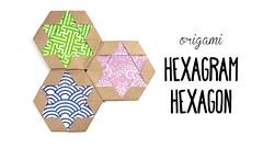 Origami Hexagram Tiles/Coaster ✡ Star of David ✡ Paper Kawaii (paperkawaii) Tags: origami instructions paperkawaii papercraft diy how video youtube tutorial