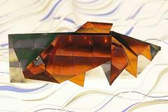 Goldfish Chopstick Holder (Hidehisa Inayoshi) (De Rode Olifant) Tags: origami paper paperfolding marjansmeijsters goldfishchopstickholder hidehisainayoshi tanteidan diagrams tanteidanconventionbook19 origamifish origamichopstick